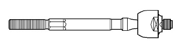 Terminal Axial - Nakata - N 99030 - Unitário - - RENAULT TWINGO 1.2 93 - 02 - Lado Direito ou Esquerdo - Conteúdo Unitário - Posição Dianteira
