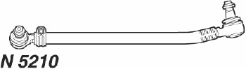 Barra Lateral - Nakata - N 5209 - Unitário - - MERCEDES BENZ 1418 89 - 05 / MERCEDES BENZ 1620E 07 - 10 / MERCEDES BENZ 1622 01 - 06 - Posição Dianteira - C