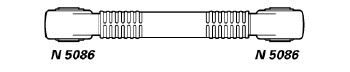 Barra de Reação - Nakata - N 5071 - Unitário - - MERCEDES BENZ OH1635 96 - 03 / MERCEDES BENZ OH1635 L 96 - 03 - Posição Dianteira - Conteúdo Unitário