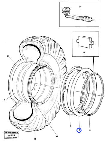Anel de Localização da Roda - Volvo CE - 4789997 - Unitário
