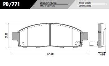 Pastilha de freio L200 TRITON 2013 - Fras-le - PD/771 - Par