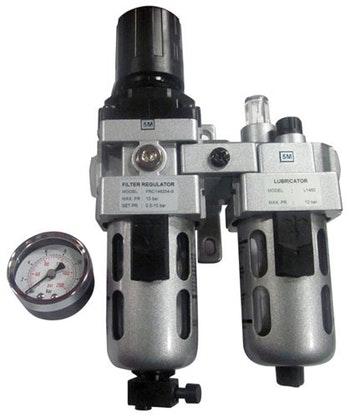 """Conjunto Lubrifil com Manômetro e Dreno Manual 1/2"""" BSP - TMX - CL120 - Unitário"""