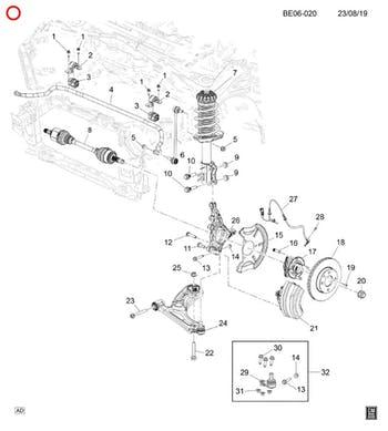 Bucha da Barra Estabilizadora - Original Chevrolet - 94733258 - Unitário