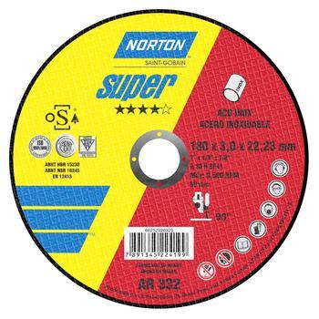 Disco de corte Super AR332 - 180x3,0x22,23mm - Norton - 66252926929 - Unitário