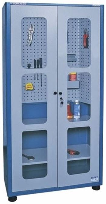 Armário para Ferramentas com Visor de Vidro Temperado e 2 Prateleiras - Marcon - AM-74 - Unitário