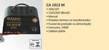 Carregador de Baterias CA1012M - Aleco - ADA000002 - Unitário