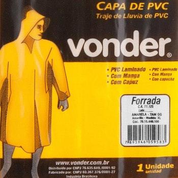 Capa para Chuva de PVC com Forro GG - Vonder - 70.15.440.100 - Unitário