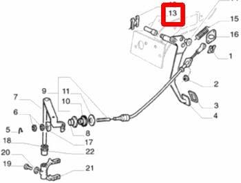 Bucha Pedal Embreagem - Original Fiat - 7509261 - Unitário