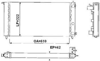 Radiador de Resfriamento - Valeo - TA684001R - Unitário