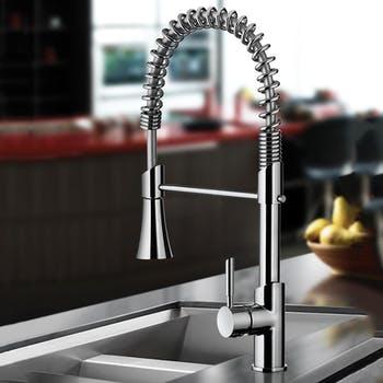 Misturador Monocomando Cozinha de Mesa com Ducha Especial Kitchen - Cromado - 1/2 - Lorenzetti - 7048481 - Unitário