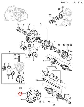 Junta do Diferencial - Original Chevrolet - 90345226 - Unitário