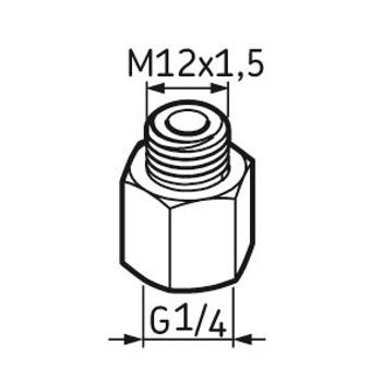 Pino graxeiro G1/4 – M12 x 1.5 - SKF - LAPN 12X1.5 - Unitário