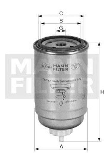 Filtro Blindado do Combustível Separador D'água - Mann-Filter - WK950/19 - Unitário