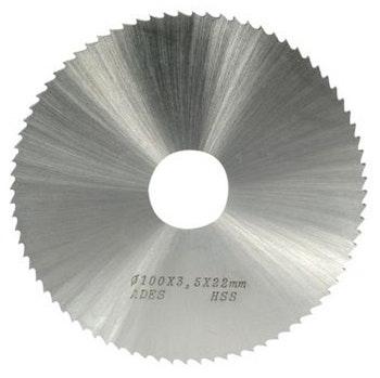 Serra Circular Aço Rápido 100X1,50X22mm DIN 1837A - Ades Ferramentas - 01.59.25.492-2 - Unitário