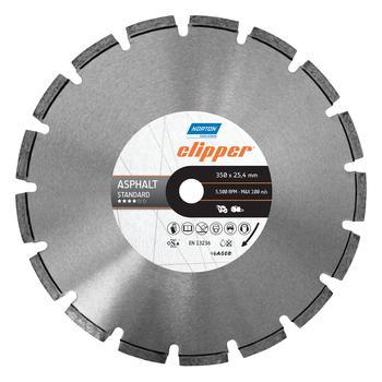 Disco diamantado para corte - asfalto Standard Clipper 350x25,4mm - Norton - 70184601439 - Unitário