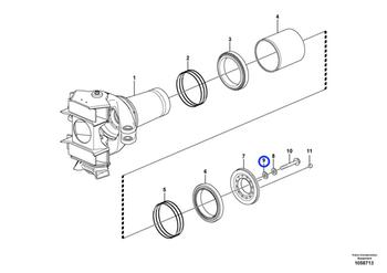 Arruela do Engate Traseiro - Volvo CE - 15179453 - Unitário