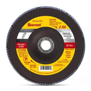 Disco Flap em Fibra de Vidro - Starrett - FDS180-80FC - Unitário