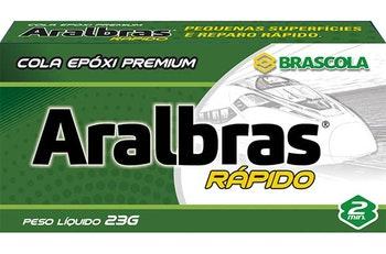 Adesivo Epóxi 2 min Aralbras Líquido 23g - Brascola - 3010033 - Unitário