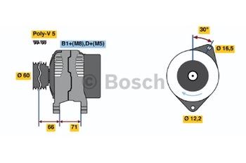 ALTERNADOR  KCB1  14V  90A - Bosch - 0124325058 - Unitário