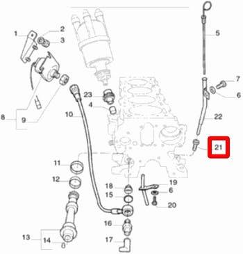 Conexão do Tubo da Vareta do Óleo - Original Fiat - 4252980 - Unitário