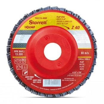 Disco Flap Exact em Nylon - Starrett - FDX115-40NF - Unitário