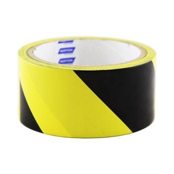 Fita dermacação de solo amarela/preta 48mmx14m - Norton - 66623386804 - Unitário