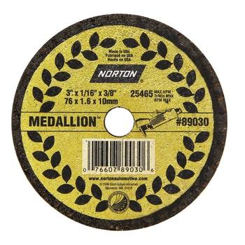 Disco de corte Medallion - 76x1,6x9,50mm - Norton - 66252834609 - Unitário