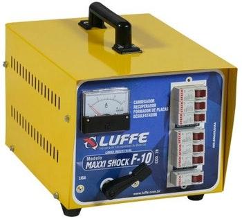 Carregador Bateria 220V 12A-144V com Amperímetro - Luffe - COD 28 - MAXXI SHOCK F-10 - Unitário