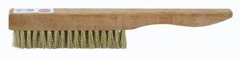 Escova Manual Latão 15x4mm Fio 0,15mm Cabo Madeira - Abrasfer - 1777/4-15 - Unitário