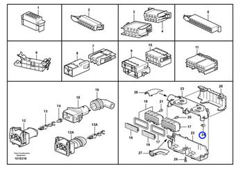 Coxim da Caixa de Fusíveis - Volvo CE - 3173913 - Unitário