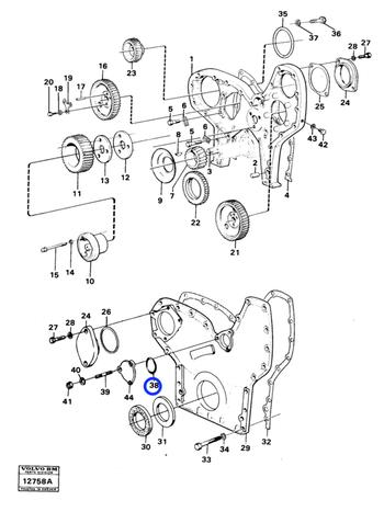 Anel O-Ring - Volvo CE - 949660 - Unitário