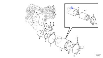 Filtro de Ar do Motor - Volvo CE - 15193226 - Unitário