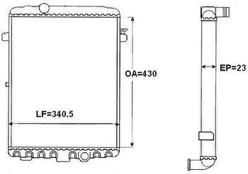 Radiador de Resfriamento - Valeo - TA369001R - Unitário