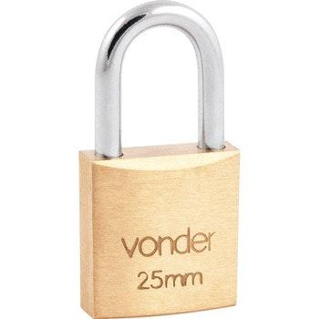 Cadeado de Latão 25 mm - Vonder - 32.11.025.000 - Unitário
