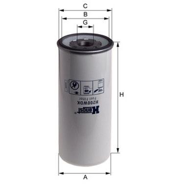 Filtro de Combustível - Hengst - H200WDK - Unitário