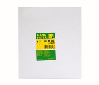 Filtro do Ar Condicionado - Mann - Filter - CU16005 - Unitário - Mann-Filter - CU16005 - Unitário