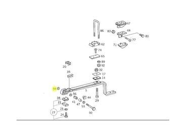 Calço - Original Mercedes-Benz - A3823257484 - Unitário