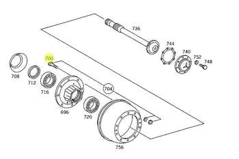 Parafuso de Fixação da Roda - Original Mercedes-Benz - A3814010571 - Unitário