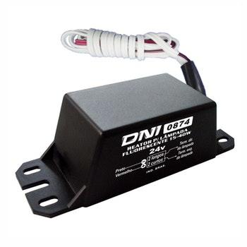 Reator para Lampadas Fluorescentes - 24V - DNI 0874 - DNI - DNI 0874 - Unitário