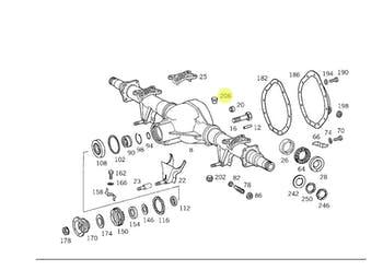 Respiro - Original Mercedes-Benz - A3453507290 - Unitário