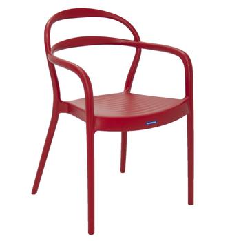 Cadeira Tramontina Sissi Vermelha com Braços em Polipropileno e Fibra de Vidro - Tramontina - 92045040 - Unitário