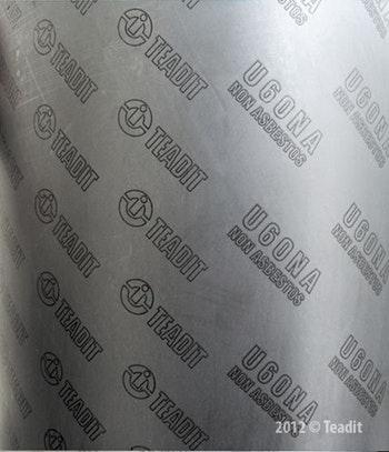 Papelão Hidráulico U60NA - Grafite Espessura 2,40mm Folha 1,5x1,6mm - Teadit - U60NA-2,4 - Unitário