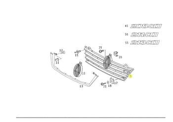 Grade do Radiador - Original Mercedes-Benz - A9018800385 - Unitário