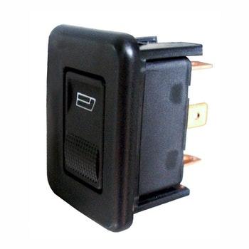 Interruptor de Vidro Elétrico Individual com LED Verde - 12V - DNI 2013 - DNI - DNI 2013 - Unitário