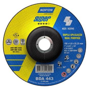 Disco de desbaste BDA 443 - 180x4,0x22,23mm - Norton - 66252841190 - Unitário