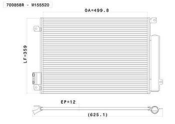 Condensador - Valeo - 700858R - Unitário
