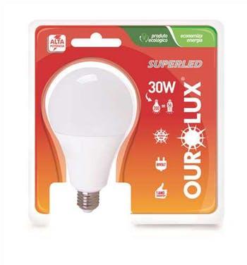 Lâmpada Led Bulbo 30W Bivolt E-27 Branca 6500K Ourolux - Ourolux - 1078322 - Unitário