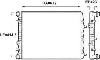 Radiador de Resfriamento - Valeo - 732862R - Unitário