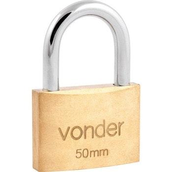 Cadeado de Latão 50 mm - Vonder - 32.11.050.000 - Unitário