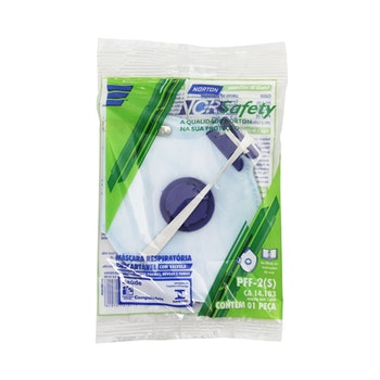 Máscara descartável PFF2 com válvula - Norton - 66261087590 - Unitário